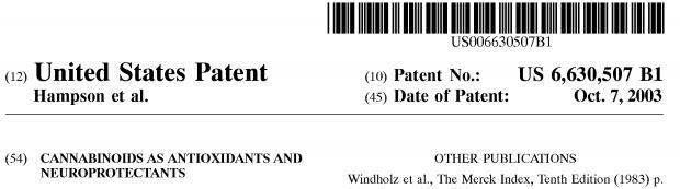 Cannabinoid Patent