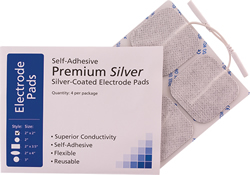 Compass Health Self-Adhesive Premium Silver-Coated Electrode Pads