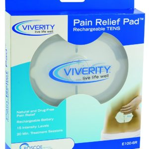 Viverity Pain Relief Pad, Rechargeable Wireless TENS Unit