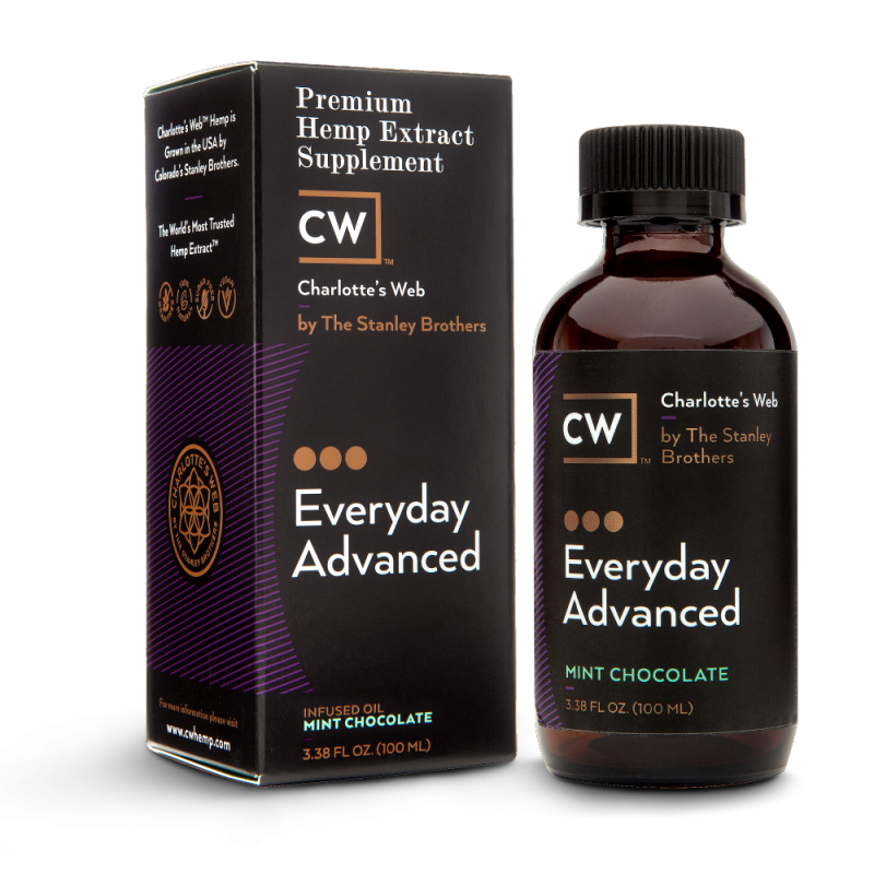 Charlotte's Web Everyday Advanced Hemp Oil – Mint Chocolate 100 ml