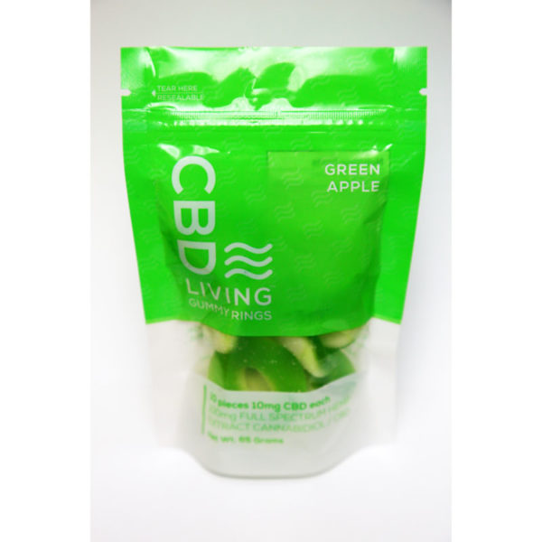 CBD Living 100 Mg Bags Apple Rings