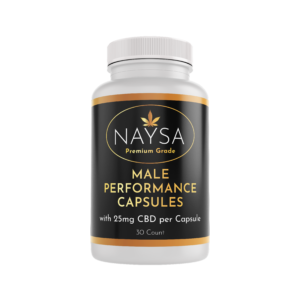 NAYSA CBD Male Performance Capsules 25mg